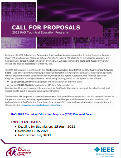 2022 call for proposals tep 2022
