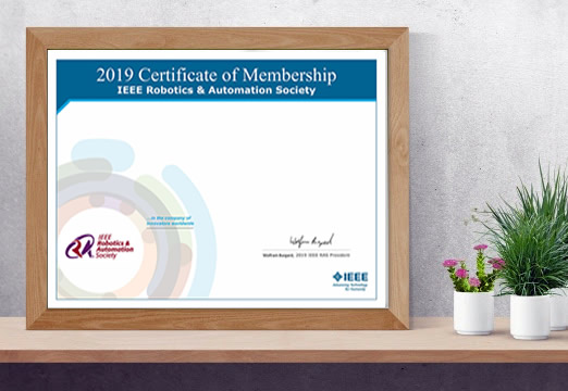 RA Society Member cert graphic
