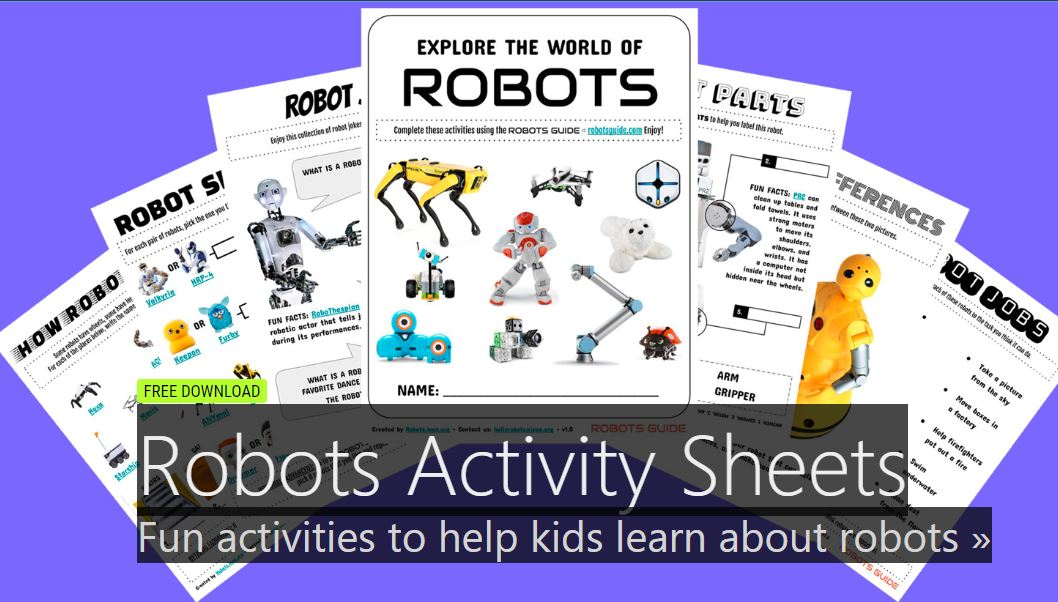 Robot Activity Sheets