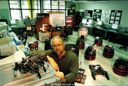 Ronald Arkin with Robots