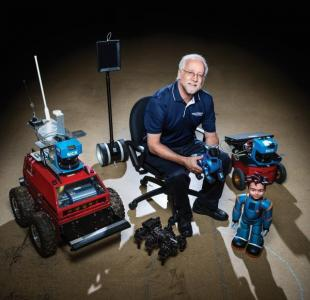 Ron Arkin with Robots