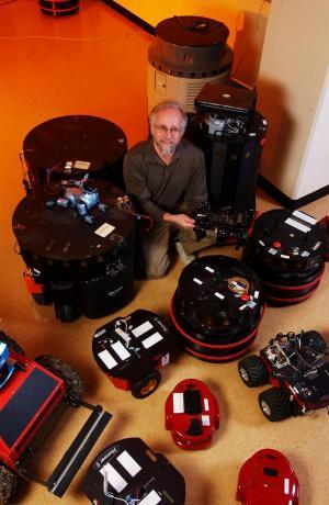 Ronald Arkin with Robots (2)